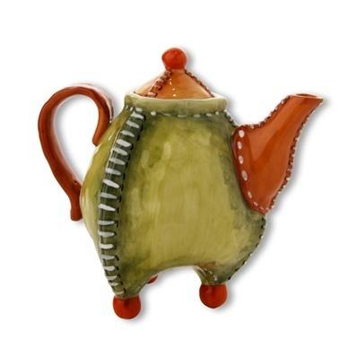Vitale Seramik Klasik Dekoratif Çaydanlık Renkli
